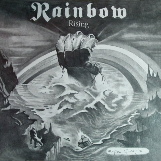 RAINBOW RISING PENCIL ART