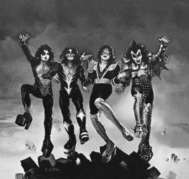 KISS DESTROYER PENCIL ART