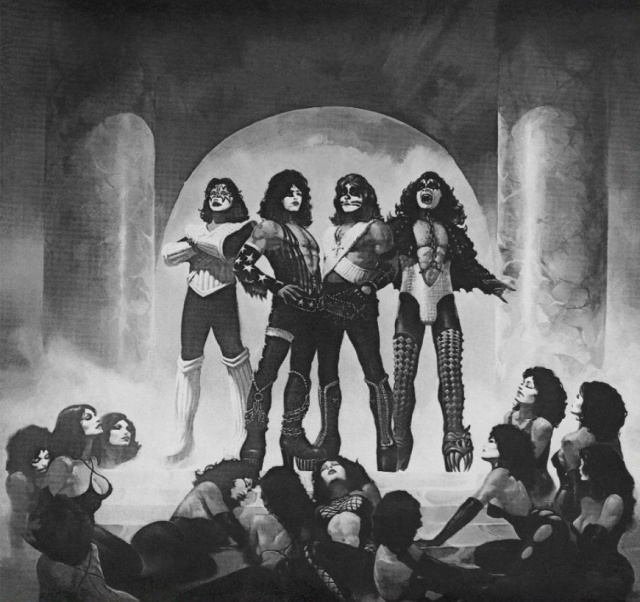 KISS LOVEGUN PENCIL ART
